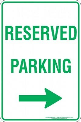 Parking Signs -  RESERVED PARKING ARROW RIGHT