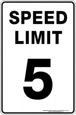 Parking Signs -  SPEED LIMIT 5