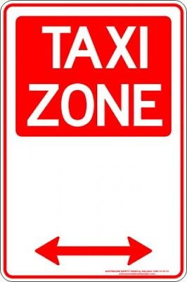 Parking Signs -  TAXI ZONE SPAN ARROW