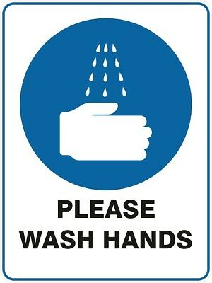 Mandatory Signs -  PLEASE WASH HANDS