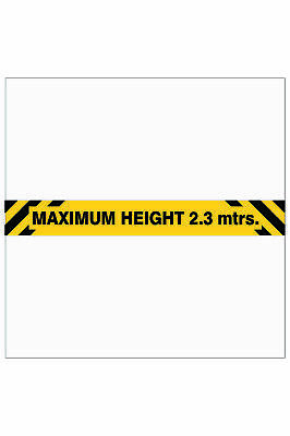 Parking Signs -  MAXIMUM HEIGHT OVERHEAD SIGN