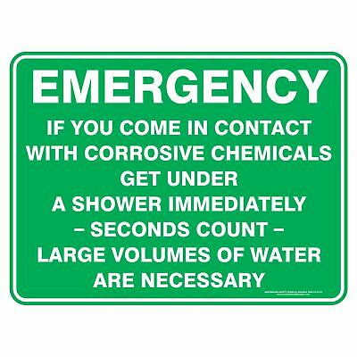 Emergency Signs -  EMERGENCY SHOWER Detailed