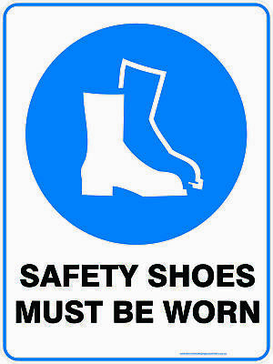 Mandatory Signs -  SAFETY SHOES MUST BE WORN