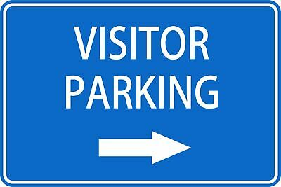 Parking Signs -  VISITOR PARKING RIGHT ARROW