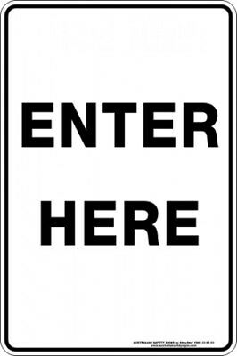 Parking Signs -  ENTER HERE