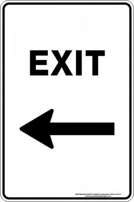 Parking Signs -  EXIT ARROW LEFT