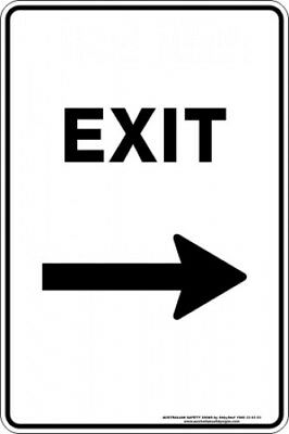Parking Signs -  EXIT ARROW RIGHT