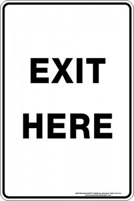 Parking Signs -  EXIT HERE