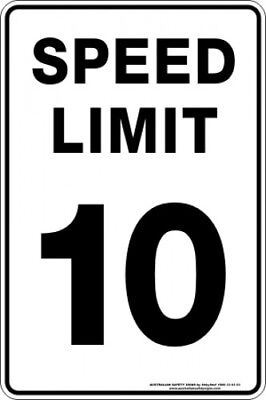 Parking Signs -  SPEED LIMIT 10