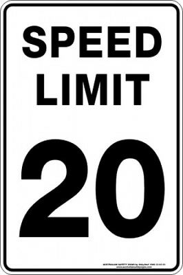 Traffic Signs -  SPEED LIMIT 20