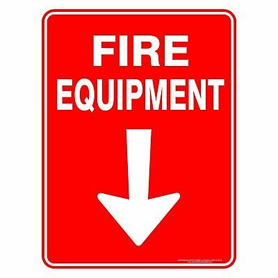 Fire Safety Signs -  FIRE EQUIPMENT ARROW