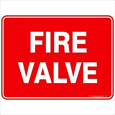 Fire Safety Signs -  FIRE VALVE TEXT
