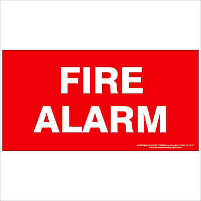 Fire Safety Signs -  FIRE ALARM 350