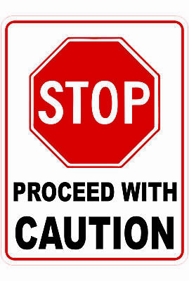 Traffic Signs -  STOP PROCEED WITH CAUTION