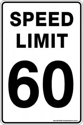 Traffic Signs -  SPEED LIMIT 60