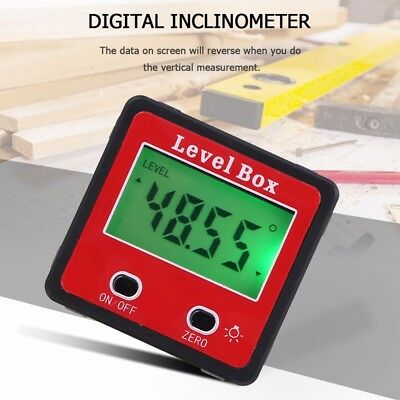 Digital Inclinometer Spirit Level Box Protractor Gauge Meter Bevel Angle Finder