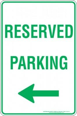 Parking Signs -  RESERVED PARKING ARROW LEFT