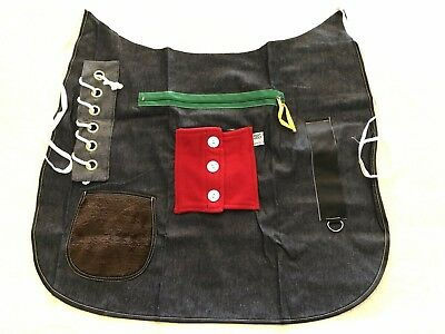 Posey 7400 ACTIVITY APRON Adult Therapy Tactile Dexterity Dementia AlzheimerNEW
