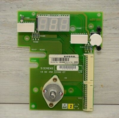 Siemens Sirona Heliodent DS Dental X-Ray Exposure TIMER Board 3313900 1882450