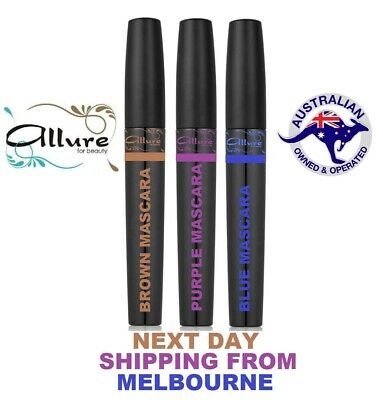 Blue Brown Purple Black Mascara Curling Waterproof Eyelash Choose Your Colour