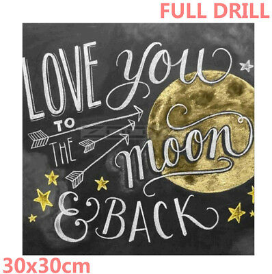 Moon&Star Full Drill 5D Diamond Painting Embroidery Cross Stitch Home Decoration