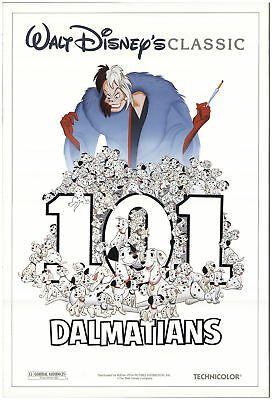 101 Dalmatians 1991 27x40 Orig Movie Poster FFF-73080 Rolled Fine, Very Good
