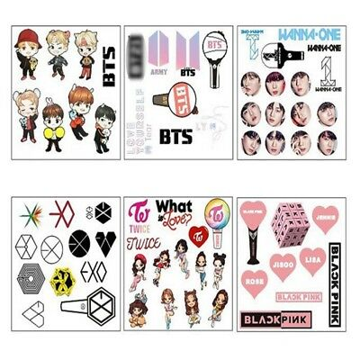 KPOP Bubble Stickers BTS EXO TWICE WANNA ONE BLACK PINK DIY Phone Sticker