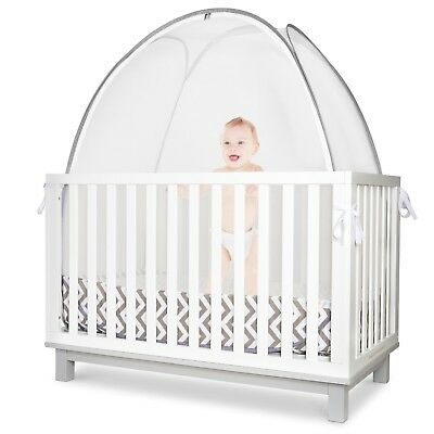 KinderSense Crib Safety Tent - Canopy Mosquito Netting   Keep Baby Inside a Crib