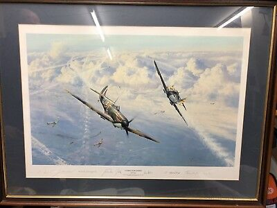ROBERT TAYLOR Combat over London extra large picture print SIGNED ltd edition