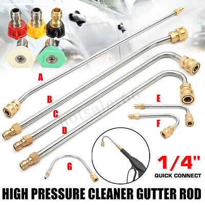 High Pressure Washer Gutter Cleaner Attachment Lance/Wand 1/4'' Quick Connect UK