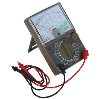 80x60mm Large Analogue Multimeter Includes Test lead Set Requires 2x AA + 1x 9V