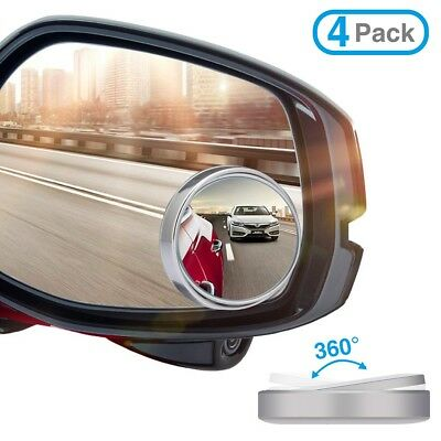 4x Car Adjustable Rearview Blind Spot Side Rear View Convex Wide Angle Mirror