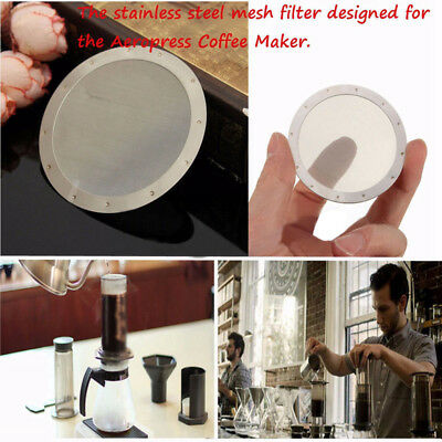 Stainless Steel Reusable Mesh Filtering Paper Coffee Filters For Aeropress Maker