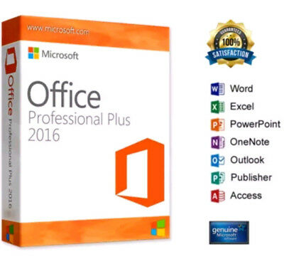 Microsoft Office 2016 Professional Pro Plus GENUINE Product Key 1 PC user instan