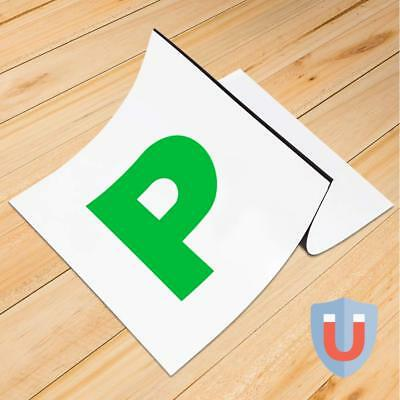 P Plates New Driver Legal Stickers Sign Just Passed Pass Car Learner (2pcs/Set)