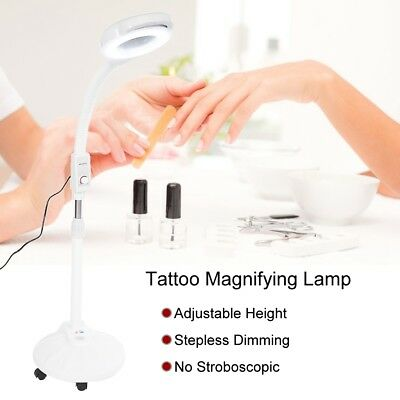 16x LED Stand Magnifier Magnifying Lamp Light Skin Care Beauty Manicure Tattoo