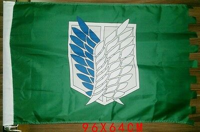 Attack on Titan Cosplay Survey Scouting Legion Recon Corps Badge Flag Banner