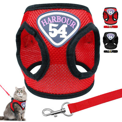 Soft Adjustable Mesh Puppy Pet Dog Cat Harness and Lead Set Non Pull Coat Vest
