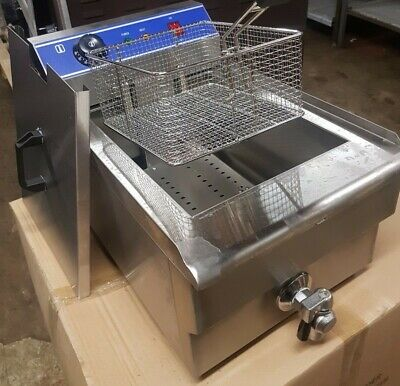 5KW 16L Commercial  Single Tank Electric Stainless Steel Deep Fat Fryer