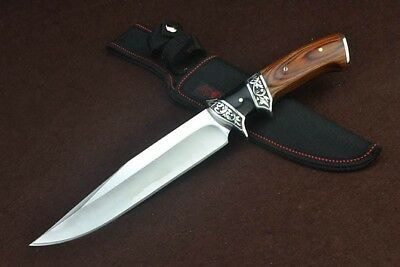 "New 12 ""Wood handle 440C Blade Fixed Blade Survival Bowie Hunting Knife SA59"