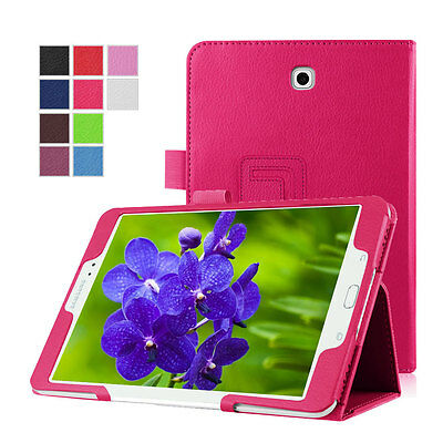 New Leather Slim Flip Stand Magnetic Cover Smart Case For Samsung Galaxy S2 8.0