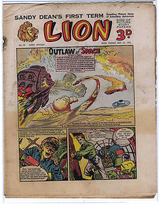 Lion 31st May 1952 (#15, high grade) Captain Condor, Amazing Advs of Mr X