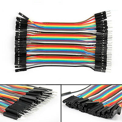 BL_ 40Pcs 10cm M-M M-F F-F Dupont Wires Jumper Cables for Arduino Breadboard Coo
