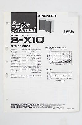 x10 wiring diagram wiring schematic diagrampioneer s x10 original speaker  system service manual guide wiring ease