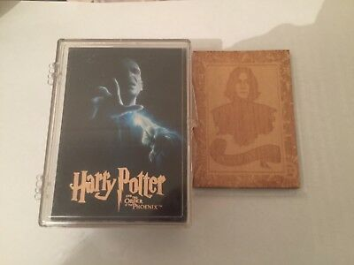New! HARRY POTTER & THE ORDER OF THE PHOENIX 90-Card Plus wood topper card