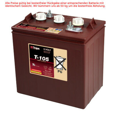 Trojan T-105 6V 225AH Profonde Cycle Batterie au Plomb Traction