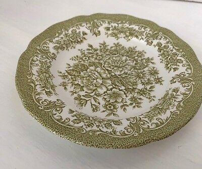 Royal Staffordshire Green Bread And Butter Plates Set of 4