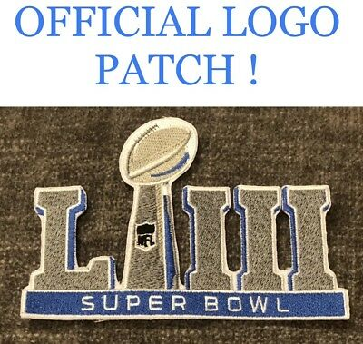 "SUPER BOWL LIII 53 Official 2018 2019 Patch 2.5"" Collectible Rams Patriots Brady"