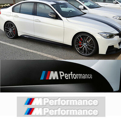 2 Ps M Tech Color Performance Badge White Sticker Emblems Decal For All Series