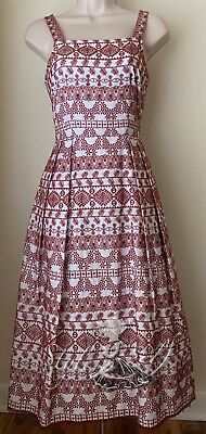 146ad5f6d4a0 ANTONIO MELANI FIT-FLARE White/Dark Khaki Dress size 0 NEW - $49.50 ...
